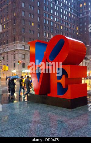 Amore scultura da Robert Indiana in NYC Foto Stock