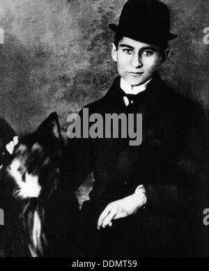 Franz Kafka (1883-1924), scrittore ceco, come uno studente universitario, 1913. Artista: sconosciuto