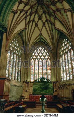 Signora Cappella, Cattedrale di Wells, pozzi, Somerset. Artista: L Jonas Foto Stock