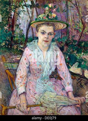 """""""Donna con un ombrello"""", 1889. Artista: Henri de Toulouse-Lautrec"""