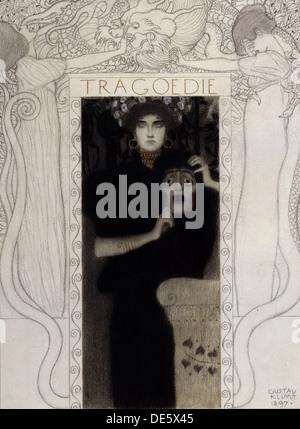 Tragedia, 1897. Artista: Klimt, Gustav (1862-1918)