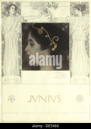 Iunio, 1896. Artista: Klimt, Gustav (1862-1918) Foto Stock
