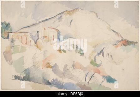 Château Noir e Mont Sainte-Victoire, 1890-1895 ca. Artista: Cézanne, Paul (1839-1906)