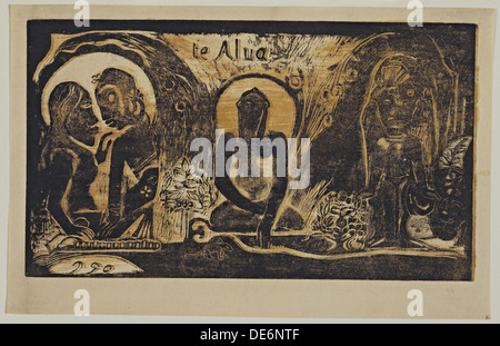 Te Atua (dei) dalla serie Noa Noa, 1893-1894. Artista: Gauguin, Paolo Eugéne Henri (1848-1903) Foto Stock