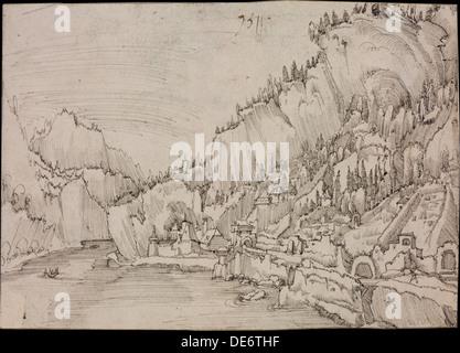 Sarmingstein sul Danubio, 1511. Artista: Altdorfer, Albrecht (c. 1480-1538)
