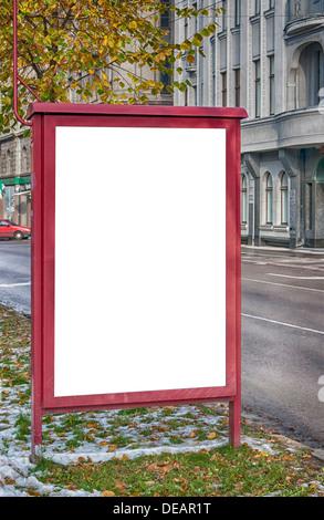 Un fustellato billboard in art nouveau regione di Riga in Lettonia con spazio per collocare la propria pubblicità Foto Stock