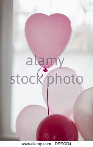 Cuore di palloncino di forma Foto Stock