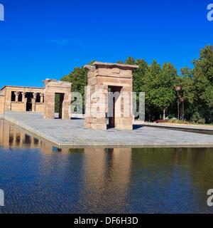 Tempio di Debod a Madrid, Spagna Foto Stock