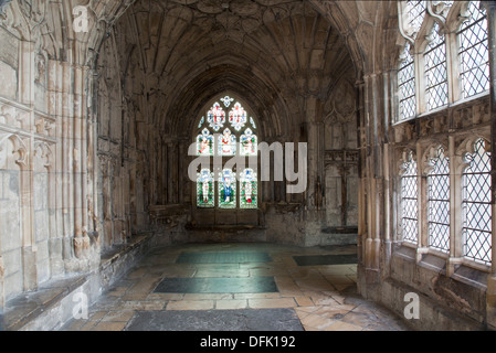 I Chiostri e la cattedrale di Gloucester, Gloucester Foto Stock