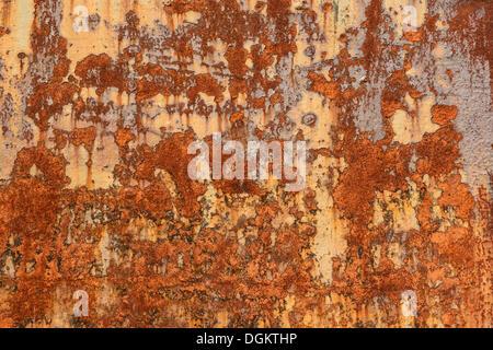 Corroso la piastra di metallo, sfondo Foto Stock