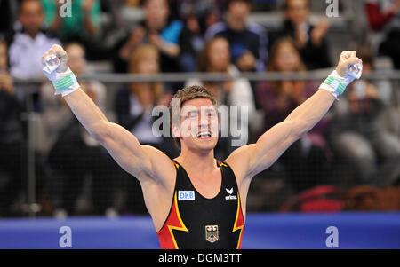 Philipp Boy, GER, tifo, EnBW Gymnastics World Cup 2010, 28th DTB-Cup, Stoccarda, Baden-Wuerttemberg Foto Stock