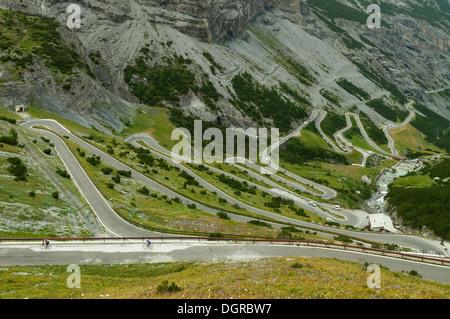Passo dello Stelvio, vicino a Bormio, Lombardia, Italia Foto Stock