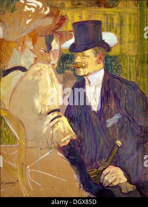 L'inglese (William Tom Warrener) presso il Moulin Rouge - da Henri de Toulouse-Lautrec, 1892 Foto Stock
