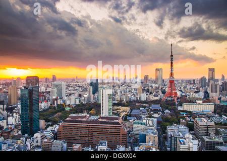 La Torre di Tokyo a Tokyo in Giappone. Foto Stock