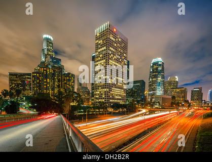 Los Angeles di notte Foto Stock