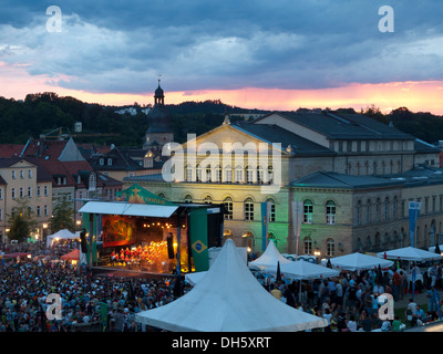 Samba festival Coburg, stadio di fronte al Landestheater, teatro di stato, Coburg, Alta Franconia, Franconia, Bavaria Foto Stock