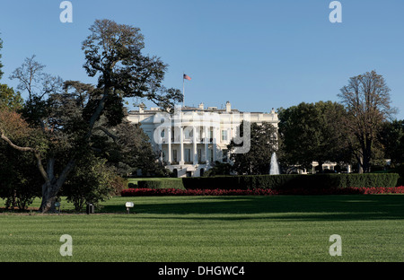 La casa bianca a Washington D.C. home del Presidente. Foto Stock