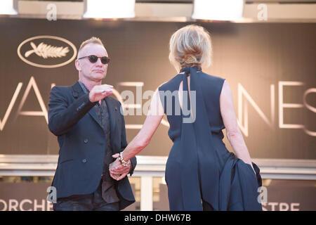 """Sting e sua moglie Trudie Styler, 'Mud"""" premiere durante il sessantacinquesimo annuale di Cannes Film Festival. Cannes, Francia - 26.05.12"""