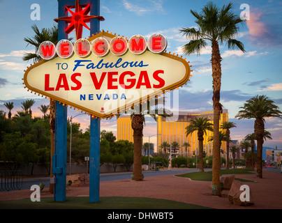 Segno di benvenuto a Las Vegas, Nevada Foto Stock