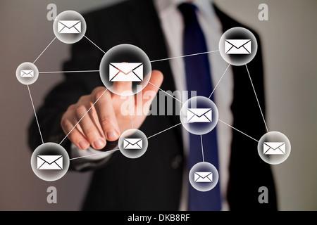 E-mail e la tecnologia aziendale Foto Stock