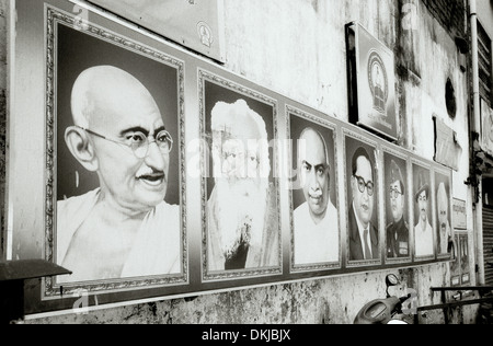 Storico indiano eroi Chennai Madras in Tamil Nadu, nell India orientale in Asia del Sud. La storia di Gandhi storico Foto Stock