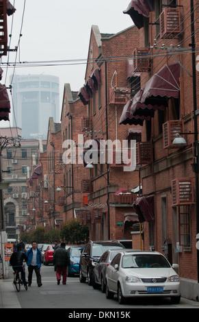 Shangai tradizionale stile architettonico area - Shikumen - mietitrebbia di Western e elementi Cinesi, Shanghai, Foto Stock