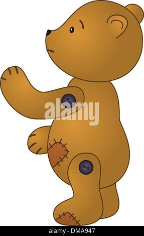 Orso di orsacchiotto triste Foto Stock