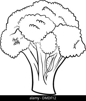 Verdure Broccoli Cartoon Per Libro Da Colorare Foto Immagine Stock
