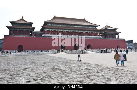Meridian Gate (Wumen) nella Città proibita a Pechino, Cina Foto Stock