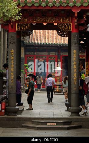 Mengjia tempio Longshan in Taipei, Taiwan Foto Stock