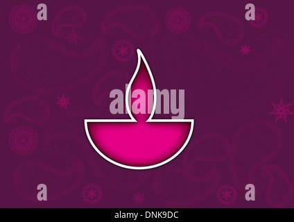 Diwali olio lampada isolato su sfondo colorato