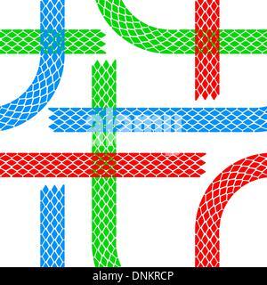 Carta da parati senza giunture tracce di pneumatici pattern illustrazione sfondo vettoriale Foto Stock