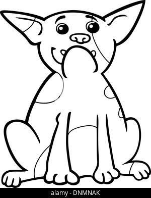 Bulldog Francese Cartoon Per La Colorazione Foto Immagine Stock