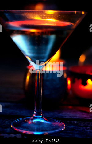 Champagne al fresco Foto Stock