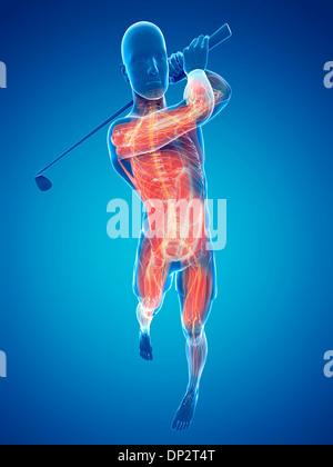 Giocatore di Golf, artwork