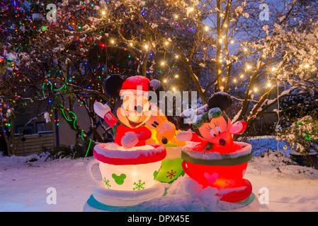 Topolino, Minnie e Pippo, display di Natale,