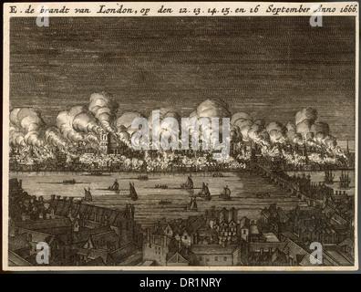 Grande Incendio di Londra Foto Stock