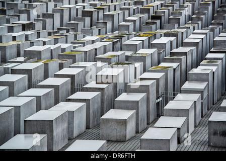 Il memoriale dell'Olocausto a Berlino, Germania. Foto Stock