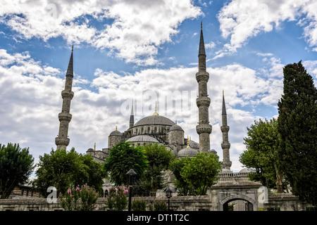 La Moschea Blu o di Sultan Ahmed moschea di Istanbul, Turchia. Foto Stock