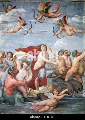 Trionfo di Galatea, c. 1512. Artista: Raffaello (1483-1520) Foto Stock