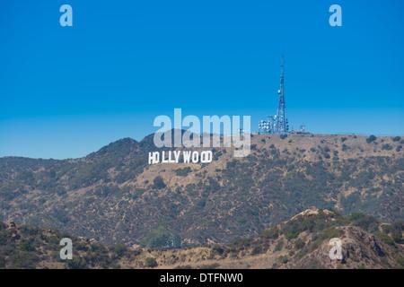 Il segno di Hollywood e Los Angeles, California Foto Stock