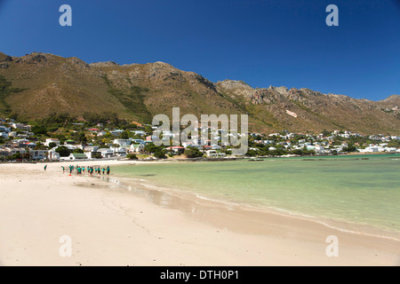 Spiaggia di sabbia di Gordon's Bay, Western Cape, Sud Africa Foto Stock