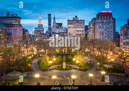 New York City presso la Union Square a Manhattan. Foto Stock