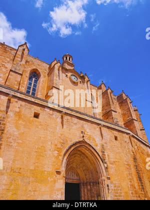 Vista della cattedrale in Ciutadella a Minorca, Isole Baleari, Spagna Foto Stock