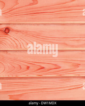 Rosso brillante listoni in legno Foto Stock