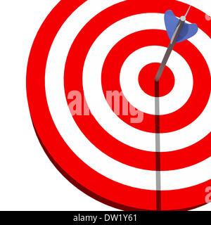 Target e freccia Foto Stock