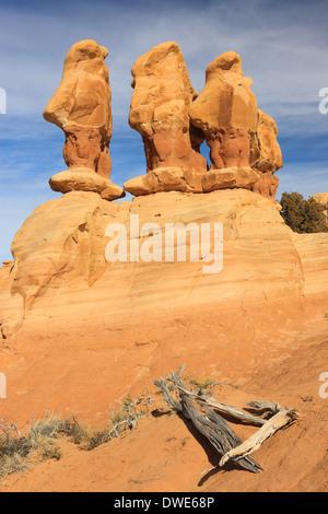Il Giardino del Diavolo del Grand Staircase-Escalante monumento nazionale (GSENM) in south central Utah, Stati Uniti Foto Stock