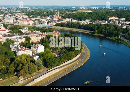 Fiume Vistola, Cracovia, Malopolska, Polonia, Europa Foto Stock
