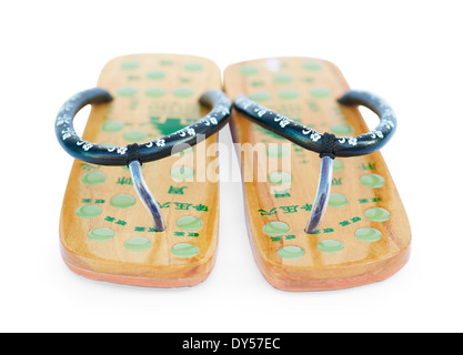 Due cinesi sandali estivi Foto Stock