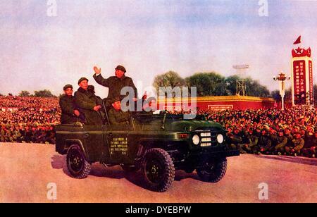 Mao Ze sterco (1893-1976) semiscafi leader comunista recensioni cadetti militari circa 1965 Foto Stock